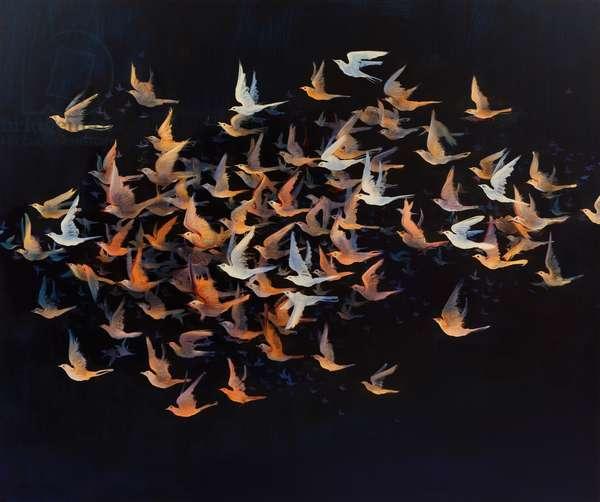 Night Birds, 2011 (oil on linen)