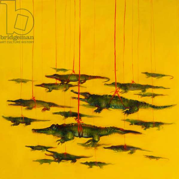 Crocodiles Suspended, 2011 (oil on linen)