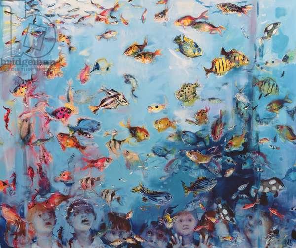 School Trip to the Aquarium, 2006 (oil on canvas)