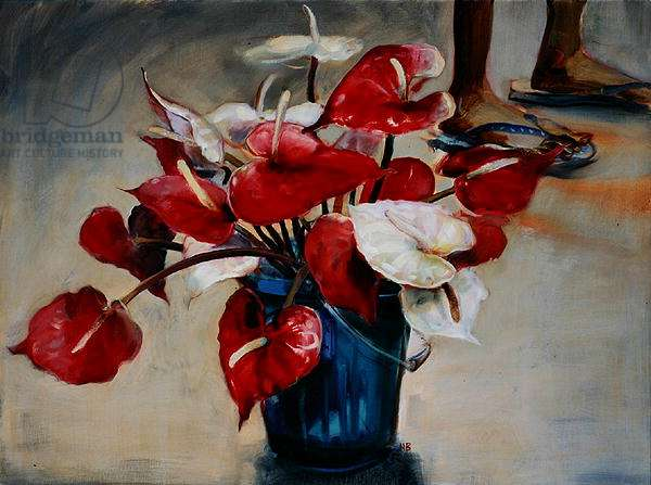 A Bucket of Flowers, 2006 (oil on canvas)