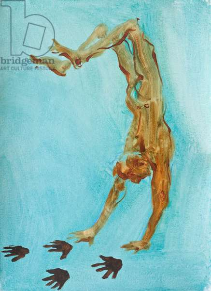 Handstand, 2009 (oil on paper)