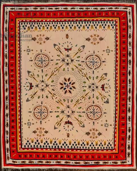 Infested Carpet, 2013, (oil on linen)
