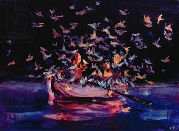 Bird Boat, 2006 (oil on board)