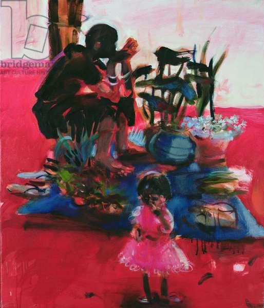 Flower Seller, 2006 (oil on canvas)