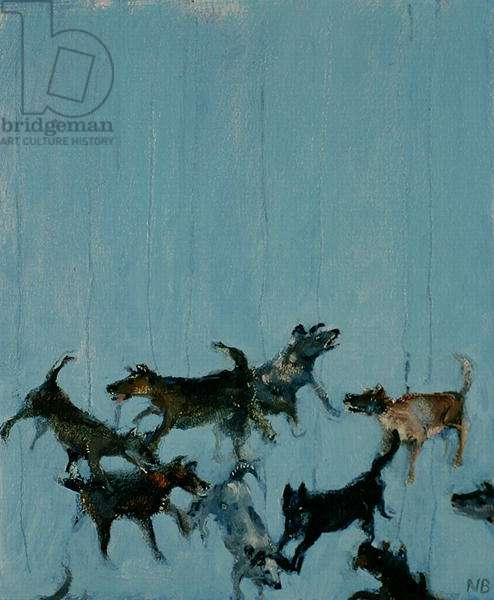 Flying dogs, 2006 (oil on canvas)
