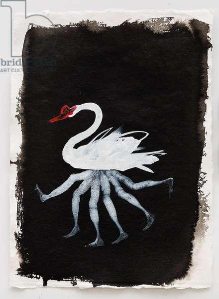 Paddling, 2014 (ink on handmade paper)