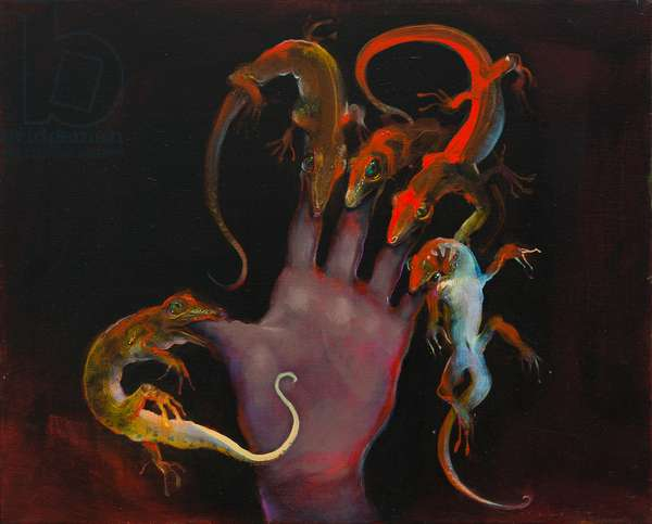 The hand that feeds, 2013, oil on linen