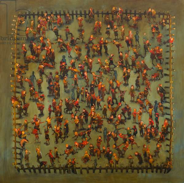 Battleground, 2013, (oil on linen)