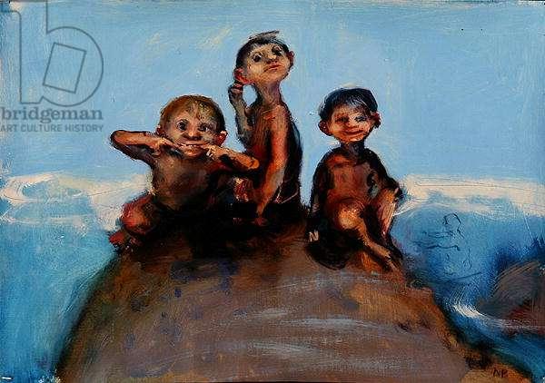 Cousins, 2006 (oil on paper)