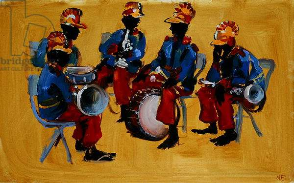 Waiting to Play, 2006 (oil on board)
