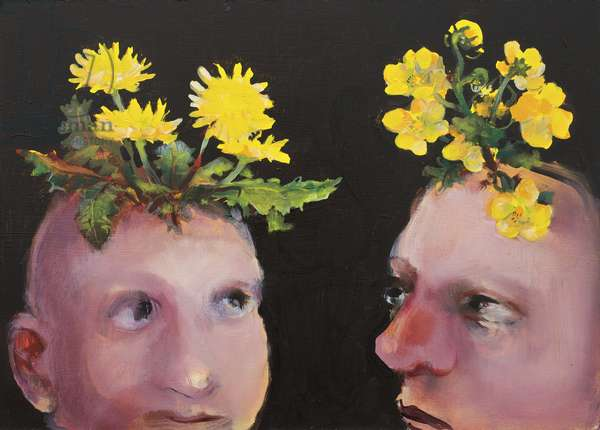 Weed Heads, 2009 (oil on board)