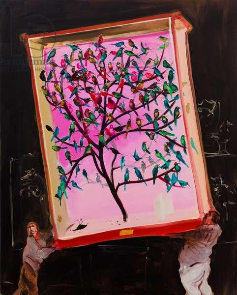 The humming-bird case, 2013, (oil on linen)