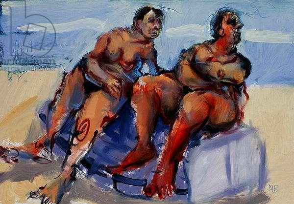 Mermaids Ashore, 2006 (oil on paper)