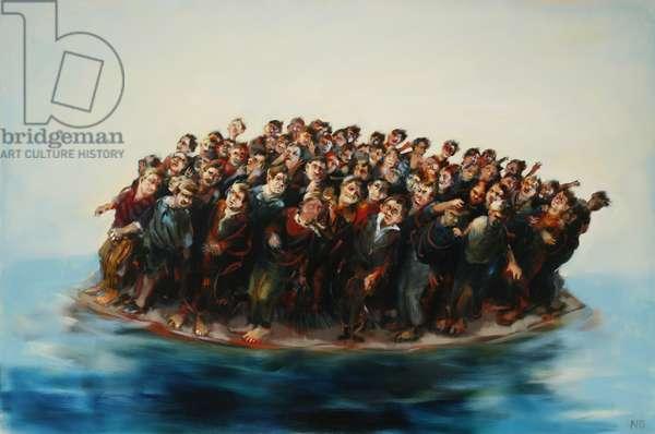 Crowded Island, West Wind, 2006 (oil on linen)