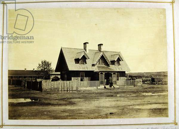 Colonel Bullock's House, Indian trader, Fort Laramie, 1868 (albumen print)