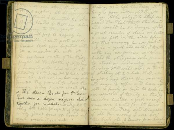 Pages from the diary of John Montgomery Roberts, one of the first settlers in Morton, Illinois, 1830-86 (pen & ink on paper)
