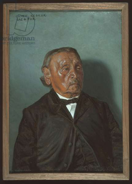 Chief Keokuk, Sac & Fox, 1900 (oil on canvas)