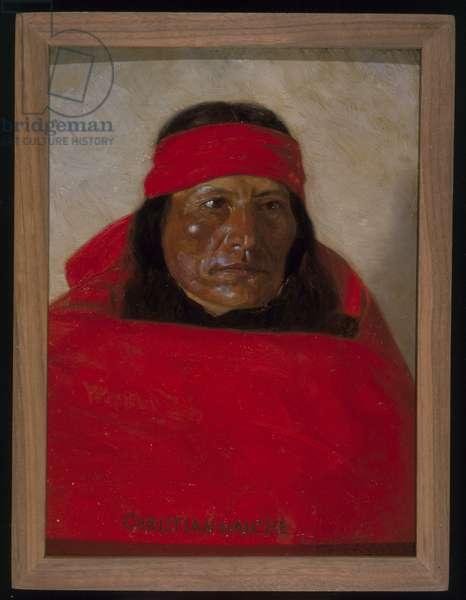 Christian-Naiche, c.1899 (oil on fabric)