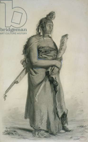 Mexhemauastan, Gros Ventres, c.1833-43 (pencil, pen & w/c on paper)