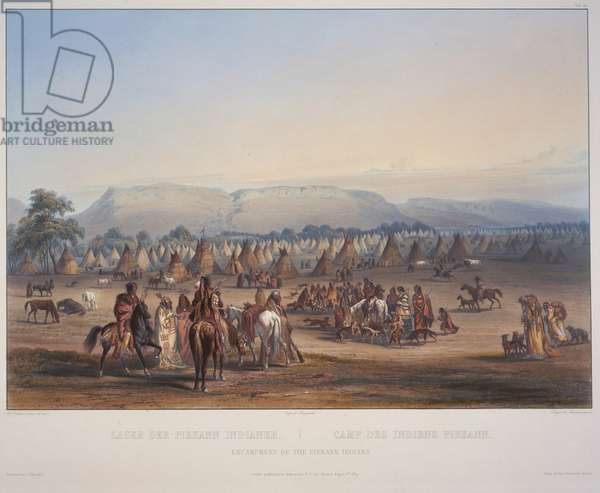 Encampment of the Piekann Indians, engraved by Beyer & Hurliman, published in 1839 (aquatint)
