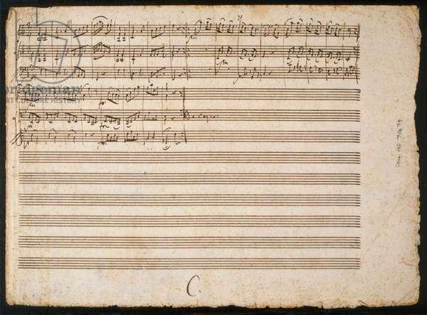Six Contre Dances, 1784 (pen & ink on paper)