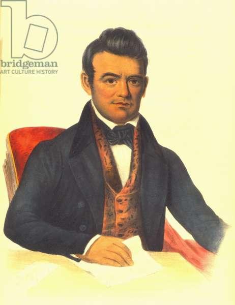 John Ross, a Cherokee chief, 1854  1848 (hand-coloured litho)