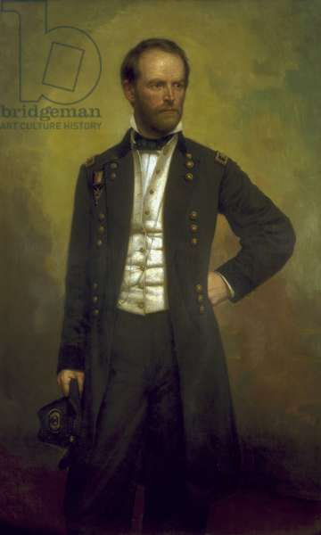 William T.Sherman (oil on canvas)