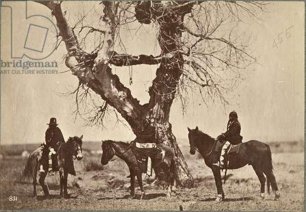 Burial, Dakota, 1868 (albumen print)