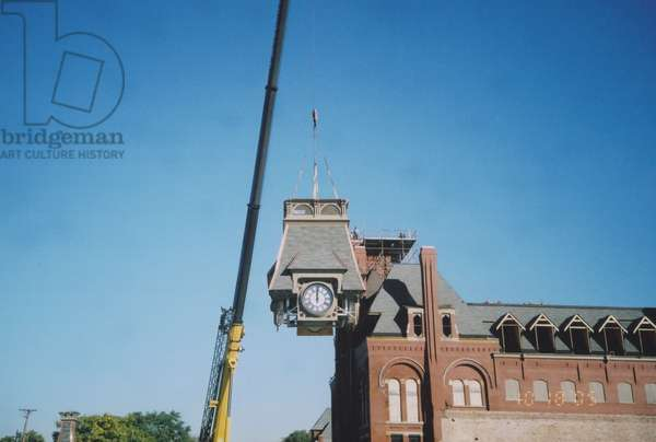 Restoration of the Clock tower, Pullman Town, 2005 (photo)