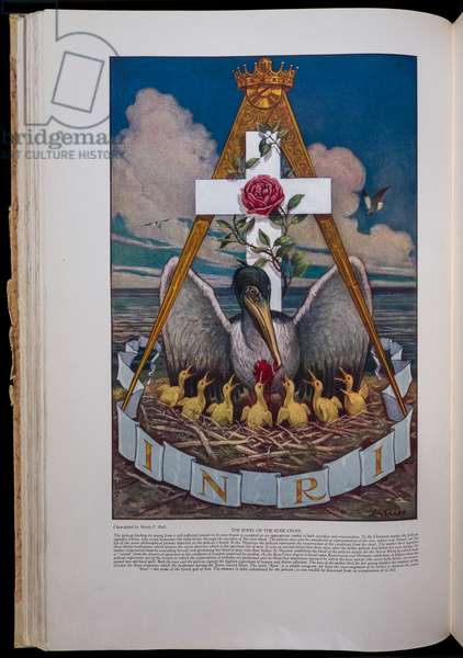 The Jewel of the Rose Croix, published in 1928 (colour litho)