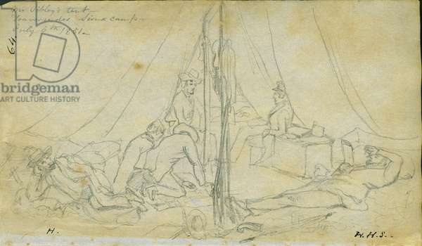 Mr. Sibley's tent, 6th July 1851 (pencil on paper)