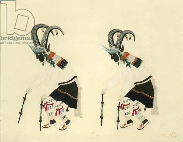 Indian Dance #7 (w/c on paper)