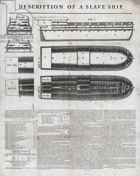 Description of a Slave Ship, printed by James Phillips, 1789 (engraving)