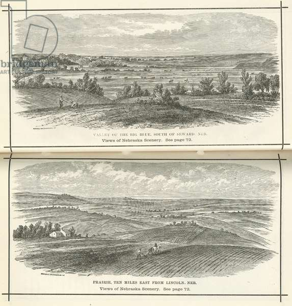 Views of Nebraska Scenery (litho)