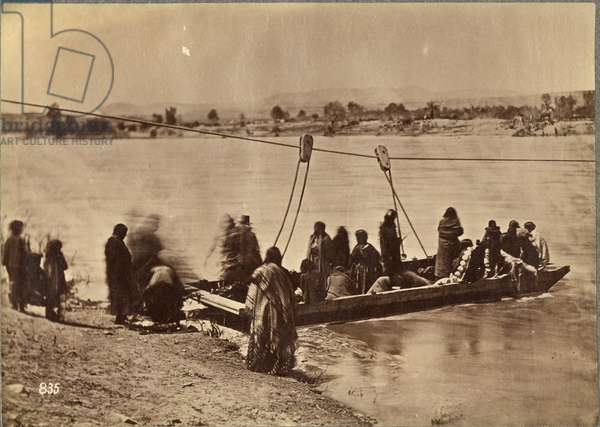 Ferry near Fort Laramie, Dakota, 1868 (albumen print)