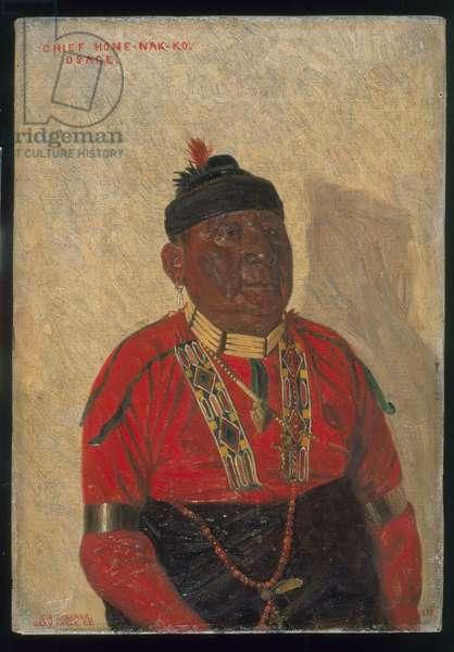 Chief Hone-Nak-Ko, 1899 (oil on canvas)