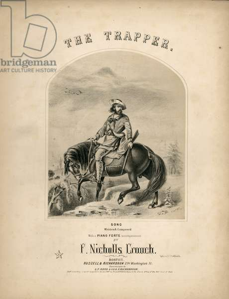 Cover of the score sheet for 'The Trapper', 1857 (litho)