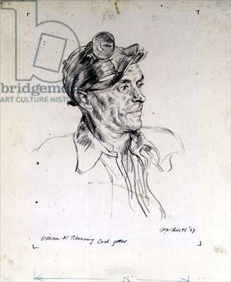 William N. Blanning, 1947 (chalk on paper)