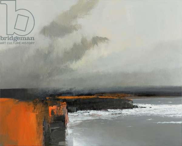 North Cliffs, 2016 (mixed media on canvas)