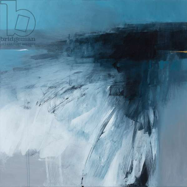 Rising Sea, 2019 (mixed media on canvas)