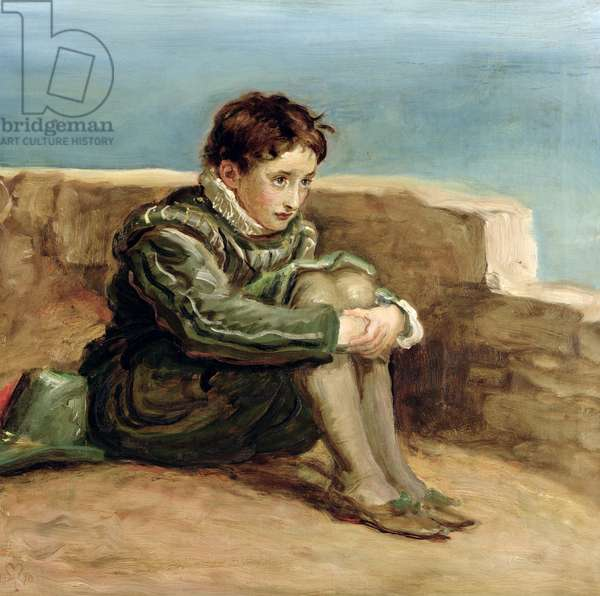 Study for 'The Boyhood of Raleigh', 1870 (oil on canvas)
