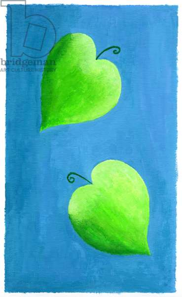 Leaf Hearts, 2003 (acrylic on acrylic paper)