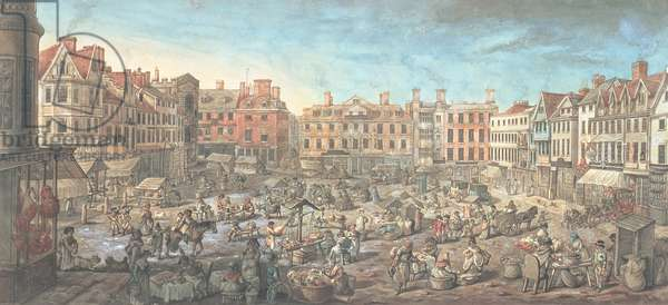 Norwich Market Place, 1799 (w/c on paper)