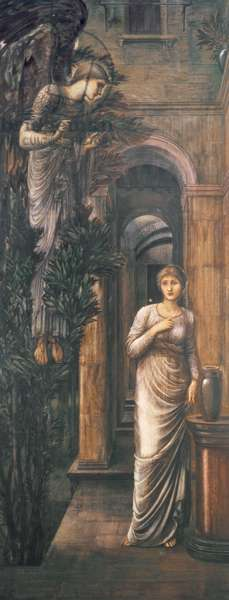 The Annunciation, 1887 (w/c on paper)