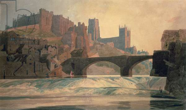Durham Castle and Cathedral, c.1809-10 (w/c on paper)