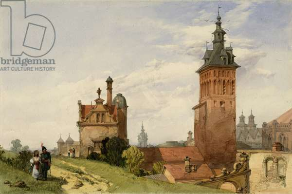 A View near Moscow, 1836 (w/c on paper)
