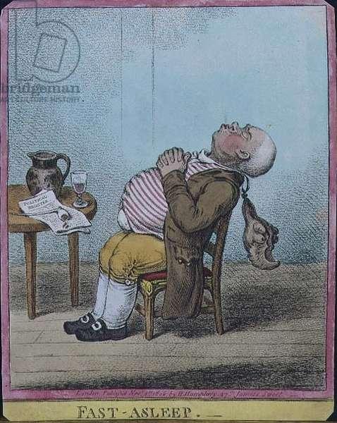 """""""Fast Asleep"""", pub. by Hannah Humphrey, 1806 (etching)"""