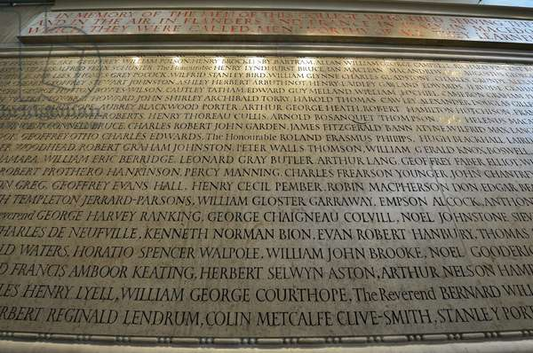 Memorial to the members of New College, Oxford, who lost their lives during World War I, 1921 (stone, pigment & gold leaf)