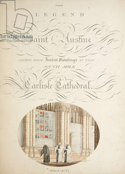 Ms. New Coll 380, f9r. The antiquities of the Cathedral Church of Saint Mary, Carlisle, drawn by Robert Carlile, 1795 (pen & ink and w/c on paper)