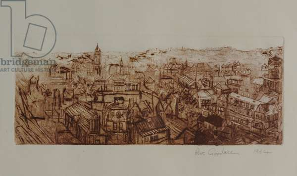 Oxford from Two Towers, 1984 (etching)